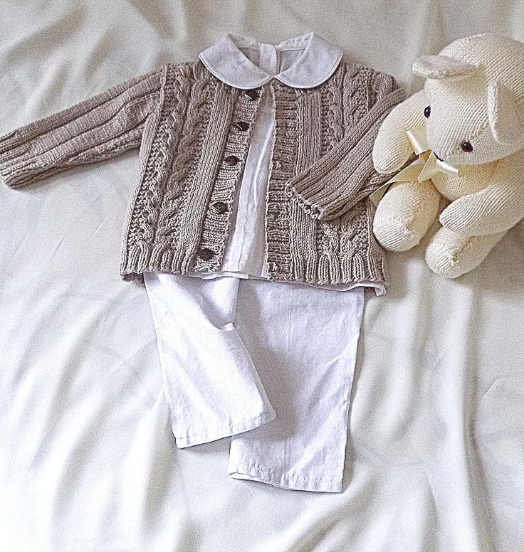 Easy cable with a difference, and rib pattern sleeves adorns this adorable cardigan. Suitable for boys or girls. It is sized for 0-6 months, 6-12 months, 1-2 years, 2-3 years and 4-5 years. Pattern includes detailed instructions and Cable chart.
