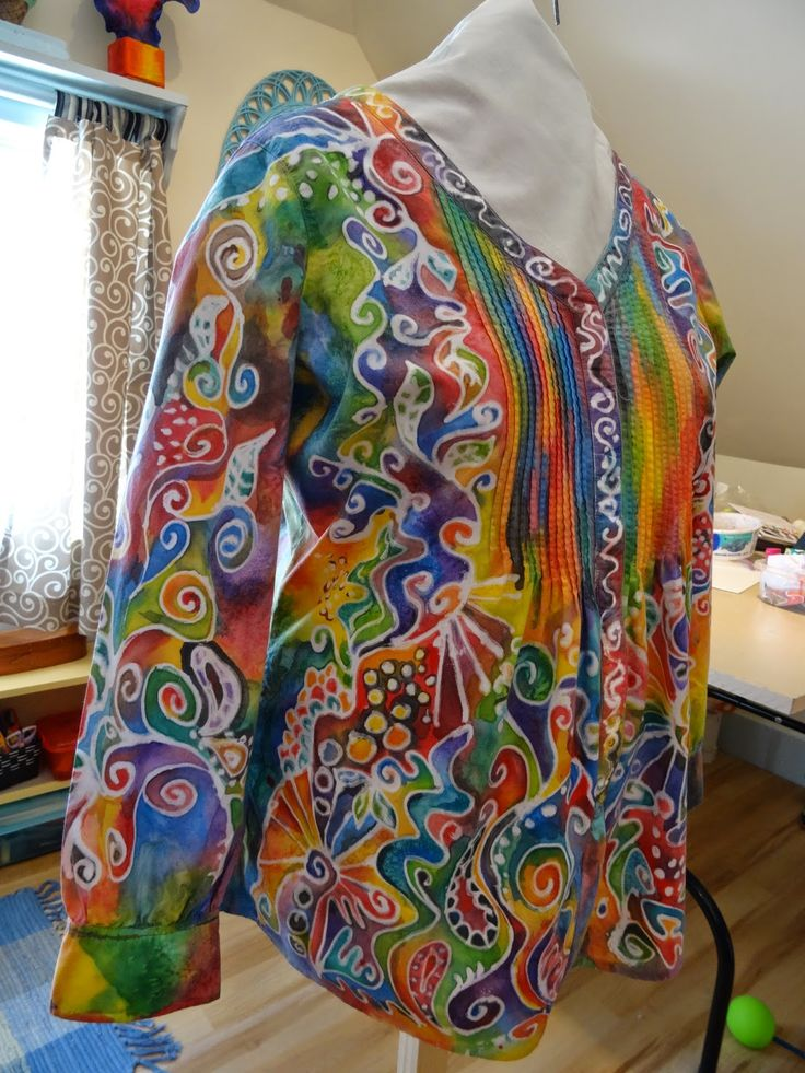 There's a Dragon in my Art Room: The Toothpaste Batik Shirt