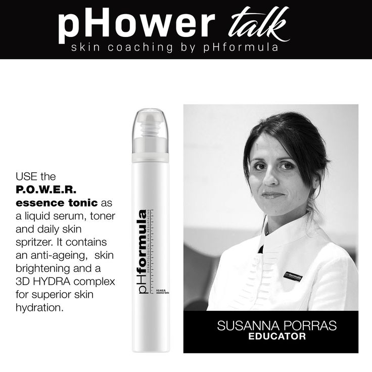 pHower talk skin coaching with pHformula. HYDRATE HYDRATE HYDRATE! The skin loses up to 50% of its moisture daily, so invest in a handbag product to spritz as often as possible. #pHowerTalk #Innovation #TalkonThursdays