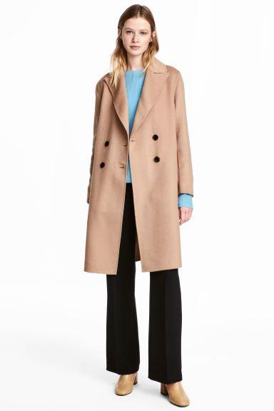 Wool-blend coat - Beige - Ladies | H&M GB 1