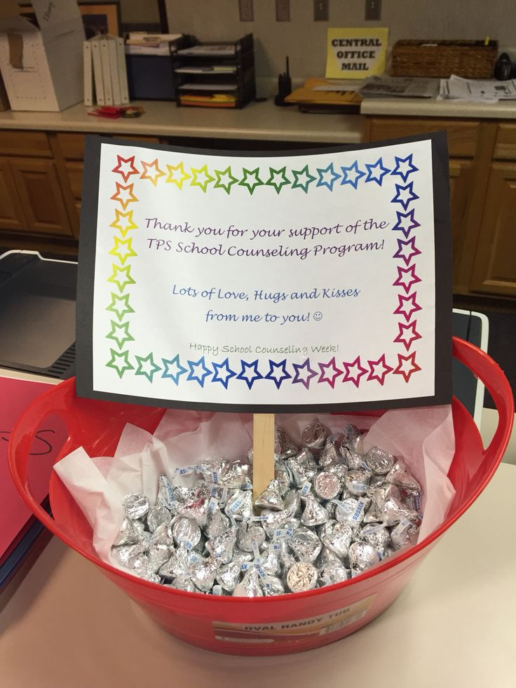 National School Counseling Week Gift of Thanks to Staff - Hershey Kisses
