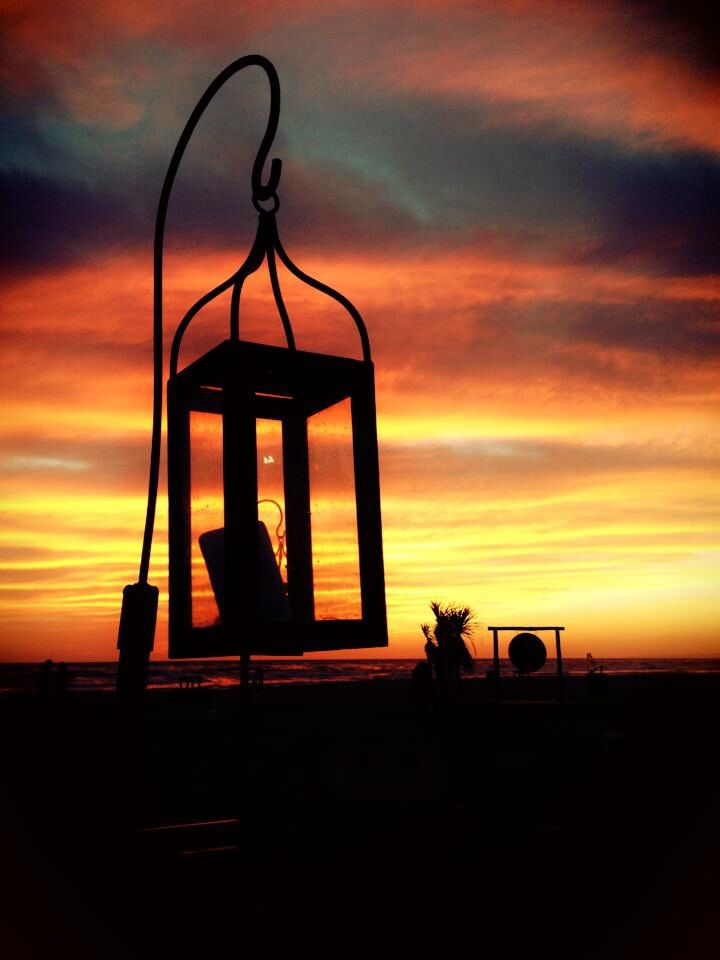 lanterns Singita Miracle Beach Fregene, Rome, Italy beach club, sunset & aperitif