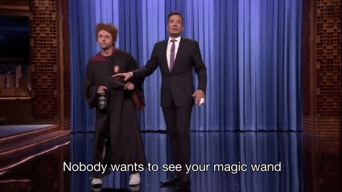 "And yeah, he's still a bit of a mess. | Simon Pegg Returned As ""Drunk Ron Weasley"" And Showed Jimmy Fallon His Wand"