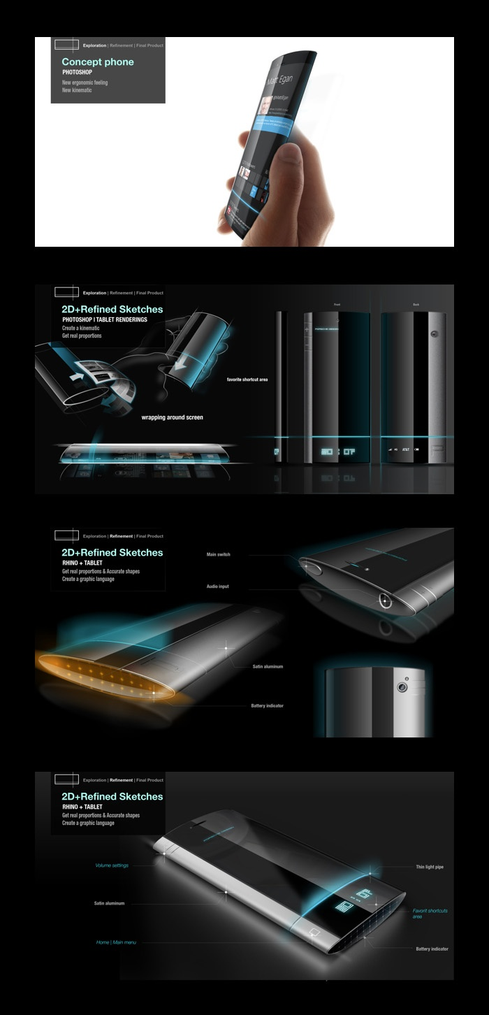 1 DAY CONCEPT New kinematic concept phone by Olivier PATRY, via Behance