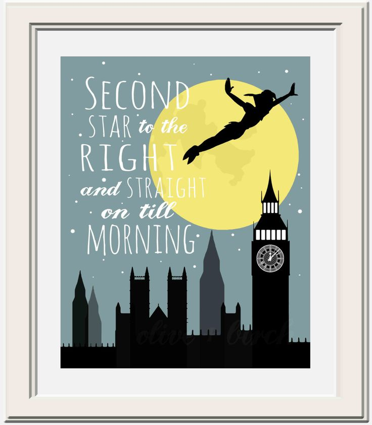 Peter+Pan+Second+Star+to+the+Right+Printable+by+OliveandBirch,+$4.50