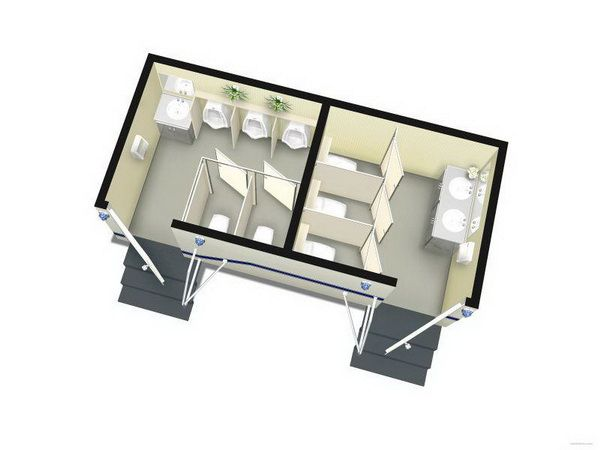 small prefab toilet design portable house container toilet