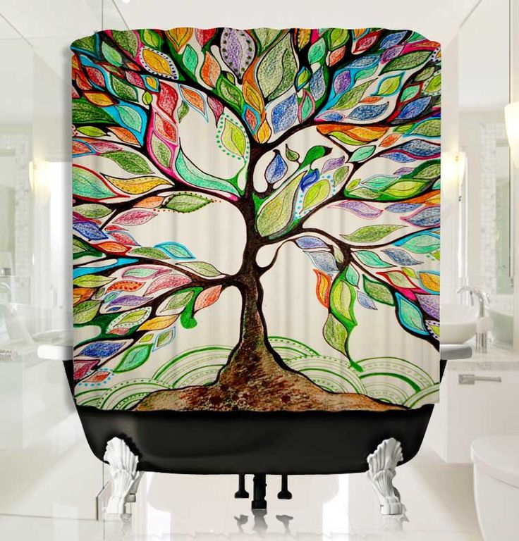 Tree of Life Painting Shower Curtain