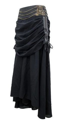 Black Gathered Skirt. Base skirt should be a brighter color!
