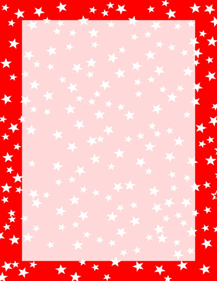 Stars Border Red and White