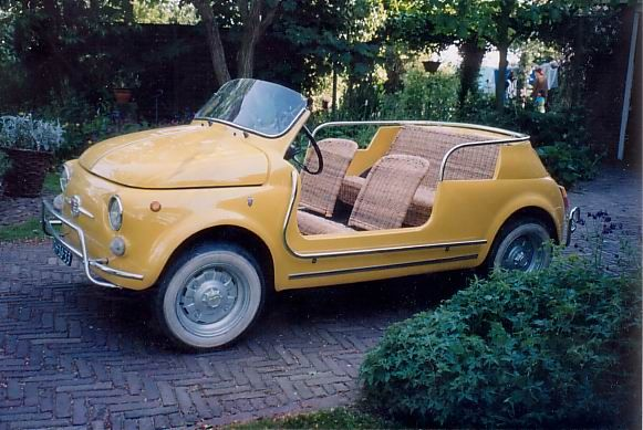 The Fiat Jolly- cutest car ever via RduJour. Oh I want one!