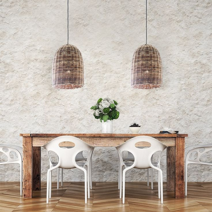 Natural wicker pendant lights add a stunning organic touch to any space - great on their own or in a row above benchtops or tables!