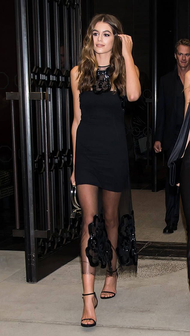 <p>Gerber looked gorgeous in black while leaving the<em> The Daily Front Row</em>'s 4th Annual Fashion Media Awards.</p>