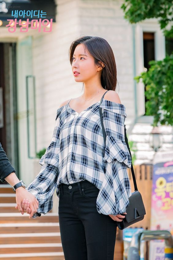 Blouse with Balloon Sleeves | Kang Mi Rae - My ID is Gangnam Beauty