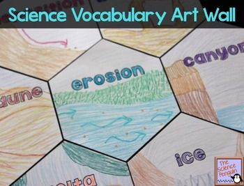 The Science Penguin: Science Vocabulary Art Wall {Free and Editable}