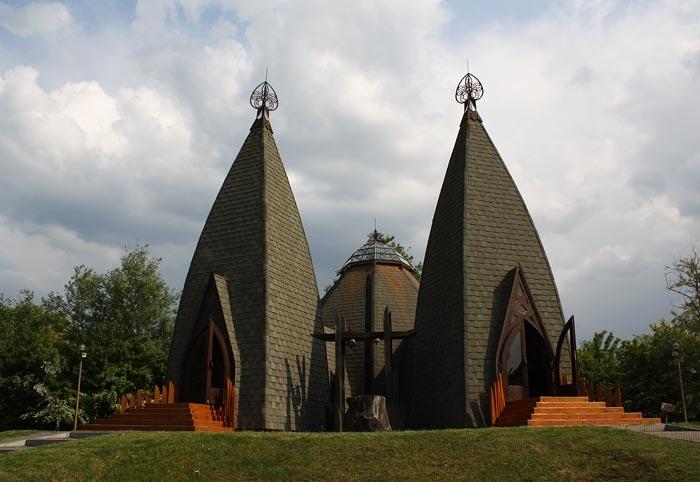Church in Ópusztaszeri Nemzeti Emlékpark,  Hungary ~ Atchitect Imre Makovecz