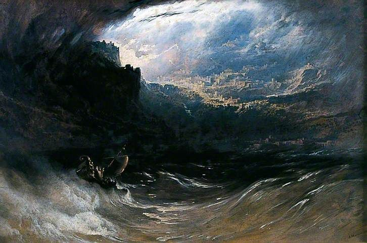 Christ Stilleth the Tempest from York Museums Trust  Your Paintings - John Martin paintings
