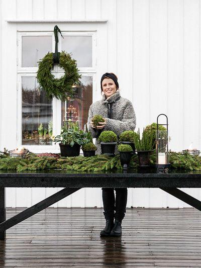 Anna Truelsen inredningsstylist: Reportage i Lantliv- Floristens jul