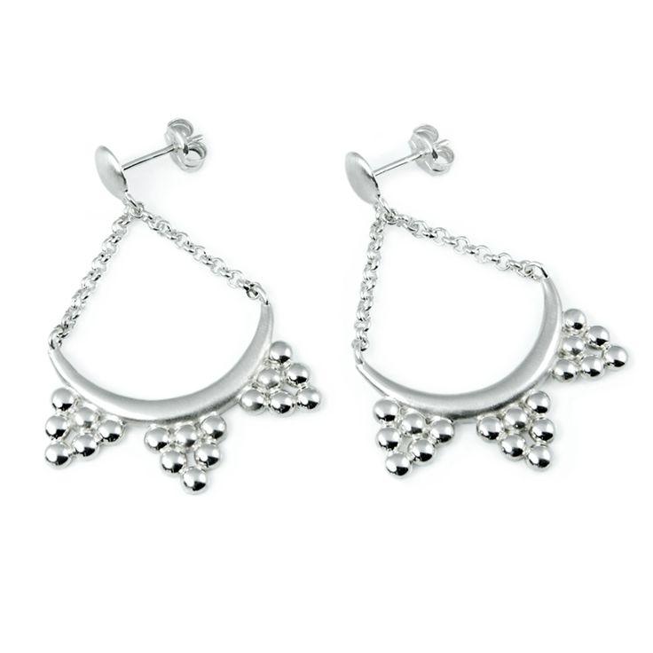 Boho Earrings, Silver Dangle earrings #jewelry #jewellery #earings #dangle #silver #boho #bohemian #ancient #Greece