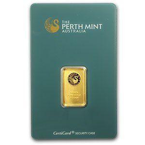 .9999+ Gold Bar - Perth Mint, 5 grams (in Assay Card)