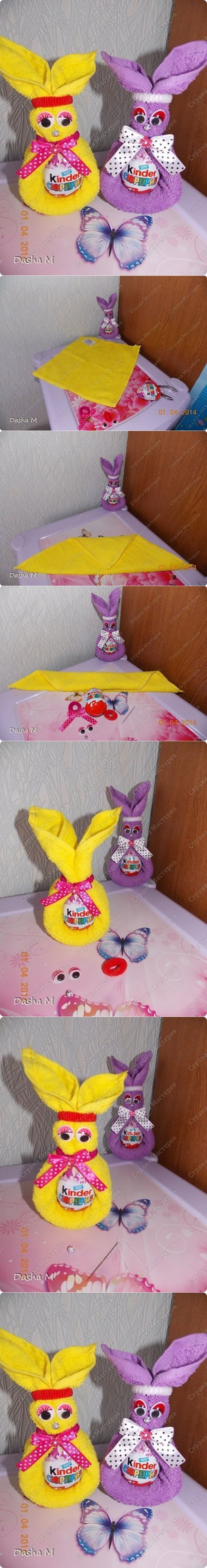 DIY Towel Bunny with Easter Egg in Last Minute | www.FabArtDIY.com LIKE Us on Facebook ==> https://www.facebook.com/FabArtDIY