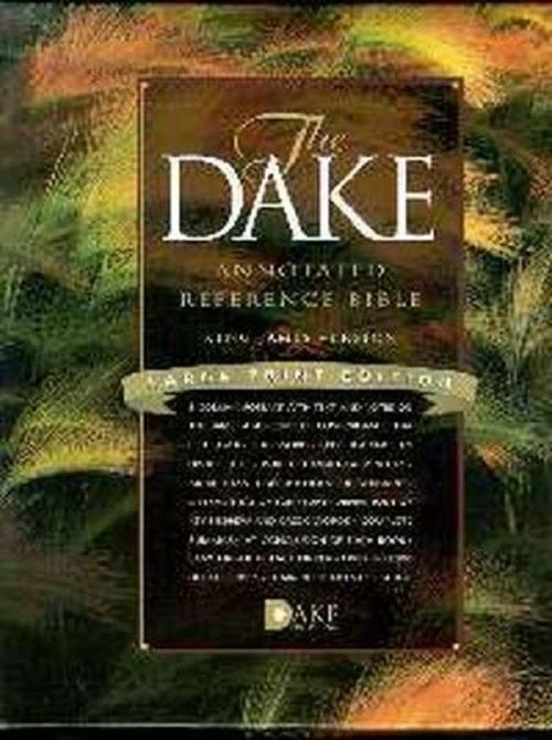 KJV Dake Reference Bible/Large Print-Black Bonded Leather