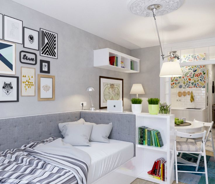 This 25 sq meter studio apartment is creative, clever, and shows how decorating can stylistically transform a compact living space into a palatial-looking one without expanding its footprint. | Tiny Homes