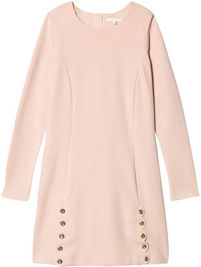 c34b3eaef308 Pink Scallop Branded Engraved Buttons Milano Dress #eco#friendly#wardrobes