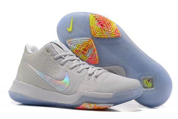 fb1ee491c71 Nike Kyrie 3 Pure Platinum Multicolor-Volt For Sale