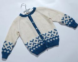 knitted cardigan jacket for a child