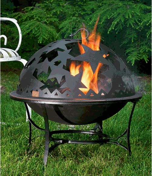 Starry Night Fire Dome - Free Shipping | Fire pit sets ...