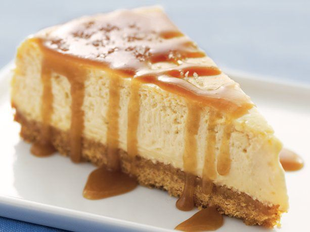 Put a trendy spin on a classic dessert with this fabulous recipe. The tiniest bit of flaked sea salt makes every bite that much sweeter, and the caramel-coffee syrup (mixed in to the filling and drizzled on top) is to die for! Tip: Look for the syrup in the coffee and tea aisle of your grocery store.
