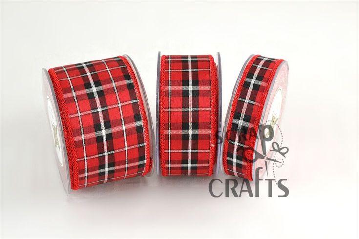 Βαμβακερή+καρό+κορδέλα+σε+κόκκινο+μαύρο+χρώμα.Κατάλληλη+για+χειμερινή+και+χριστουγεννιάτικη+διακόσμηση.+Τελείωμα...