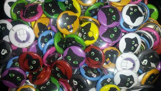 Crafty Praxis cat pin badges!