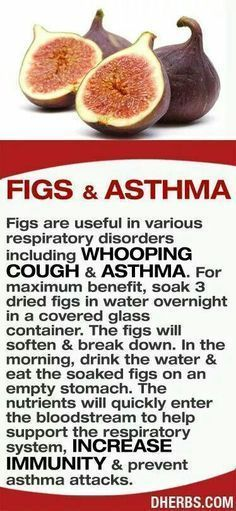 Use of Figs & Asthma ........ soaking figs and drinking the water and eating the figs, nutrients will quickly enter the bloodstream to help support the respiratory system. #arthritistips