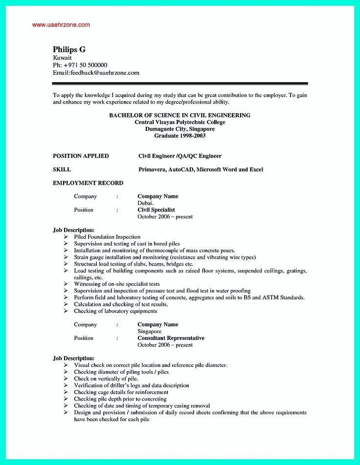 Resume Format Example | Resume Format And Resume Maker
