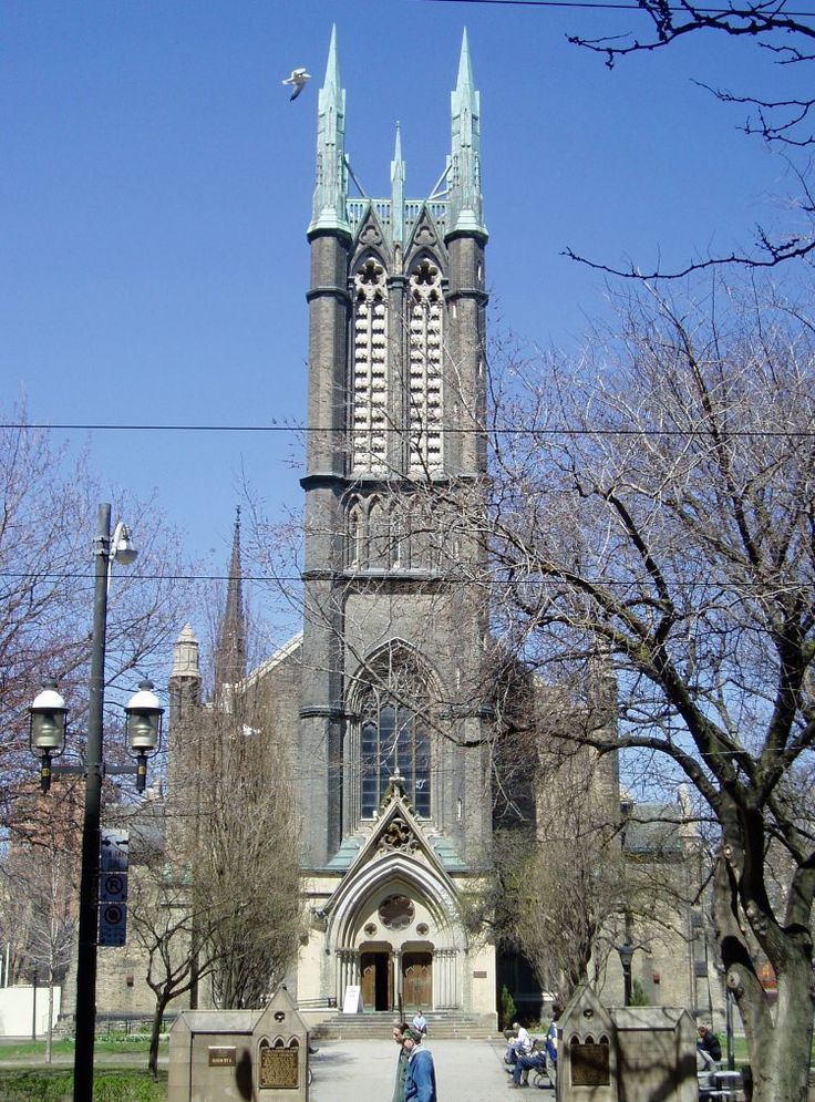 Metropolitan United Church, built in 1872, is a large neo-Gothic church in downtown Toronto, Canada. It is one of the largest and most prominent churches of the United Church of Canada. It is located on Queen Street East at the corner of Church Street in Toronto's Garden District