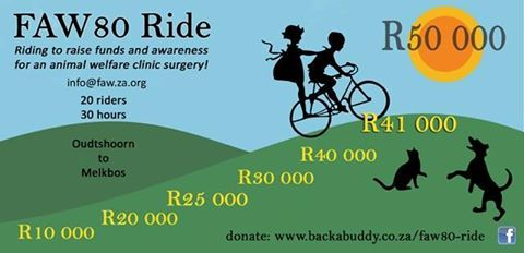The last pledges are still coming in and we are ALMOST THERE!  R50 000 for the clinic surgery is juuuust over there and every little bit helps. :-) Thank you soooooo much to every single person (and furkid) who has generously donated for this cause. You are each making a real difference.  It is so easy with Back-A-Buddy: you can donate with credit card, EFT, or PayPal - all secure pages - and locally or from overseas