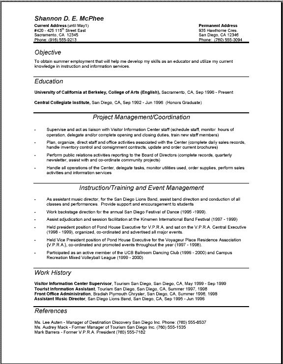18 Best Resume Images On Pinterest | Resume Examples, Resume