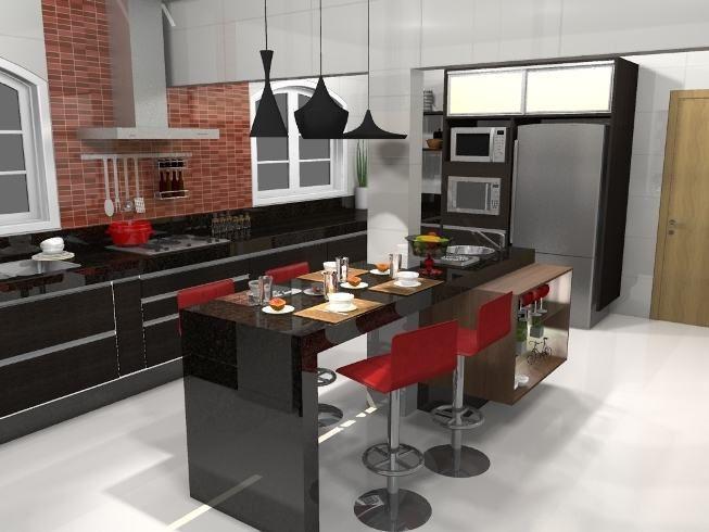 Total black, design industrial, estilo retrô e hortas suspensas aparecem entre as tendências para decoração de cozinha 2017. Confira as novidades!