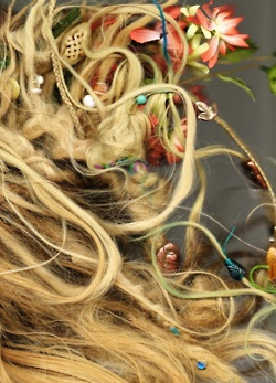 I'm a fan of dreadlocks with ornaments. Reminds me of faeries and mythical beings <3
