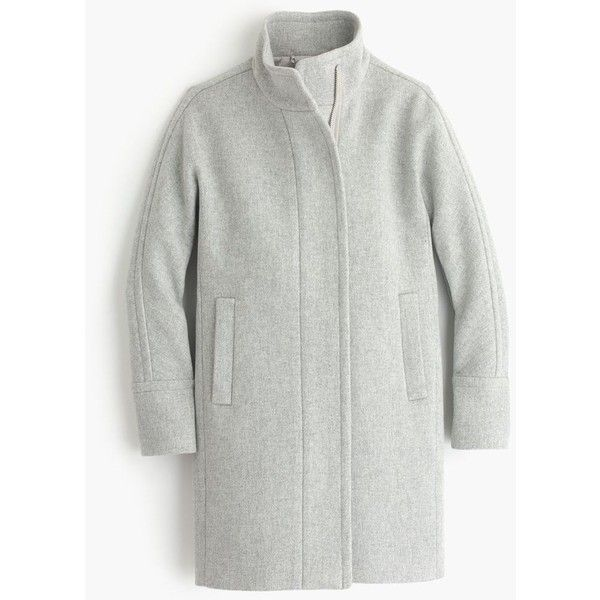 J.Crew Stadium-Cloth Cocoon Coat ($380) ❤ liked on Polyvore featuring outerwear, coats, coats & jackets, petite, j crew coat, cocoon coat, j.crew and petite coats