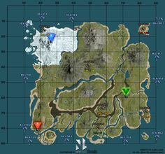 128 best ark survival evolved images on pinterest dinosaurs ark survival evolved a high quality custom map of the island by malvernweather Image collections