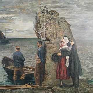 """Leaving Ireland"" One of my favourite paintings by Irish artist Sean Keating - it speaks across the centuries, across nations about the plight of emigration,,,"