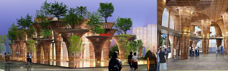 Andare all'#Expo2015? Uno dei motivi è sicuramente la presenza della casa-foresta vietnamita con le sue strutture arborescenti in bambù. :)