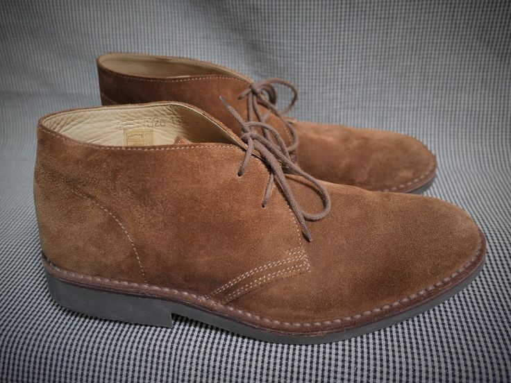 PEAL & CO for BROOKS BROTHERS Men's Suede Chukka Field Boots 11.5 D Brown #BrooksBrothers #DesertBoots