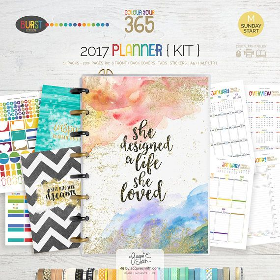 SALE 2017 Printable Planner Refill  A5  Half Letter