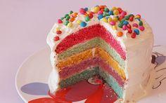 Como fazer: bolo arco-íris! - Diversao - CAPRICHO