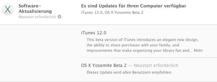 OS X Yosemite Beta 2 für alle: Update / Download ist da! - https://apfeleimer.de/2014/08/os-x-yosemite-beta-2-fuer-alle-update-download-ist-da - OS X Yosemite Beta 2 – die zweite Betaversion der öffentlichen Testversion des neuen Apple Betriebssystem für Mac Computer – ist nun zum Download über die Software-Aktualisierung für alle eingetragenen Public-Beta Tester verfügbar. Apple empfiehlt dieses zweite OS X Yosemite Beta Upda...