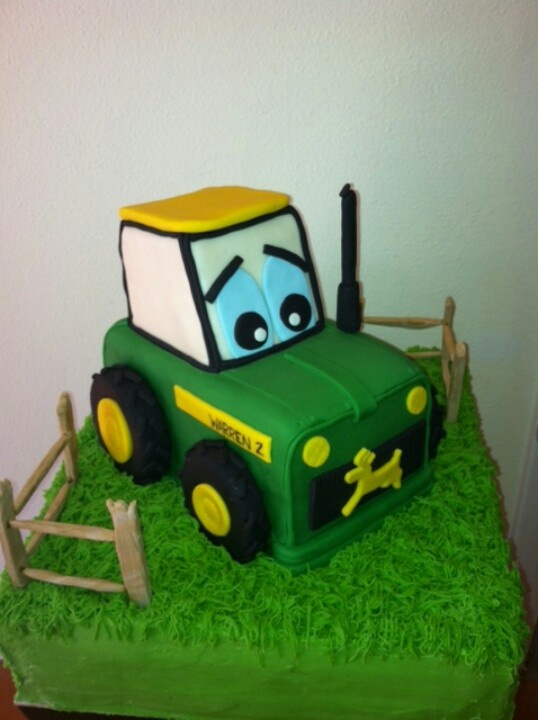 Tractor cake by Sugary and Chic Cake Boutique
