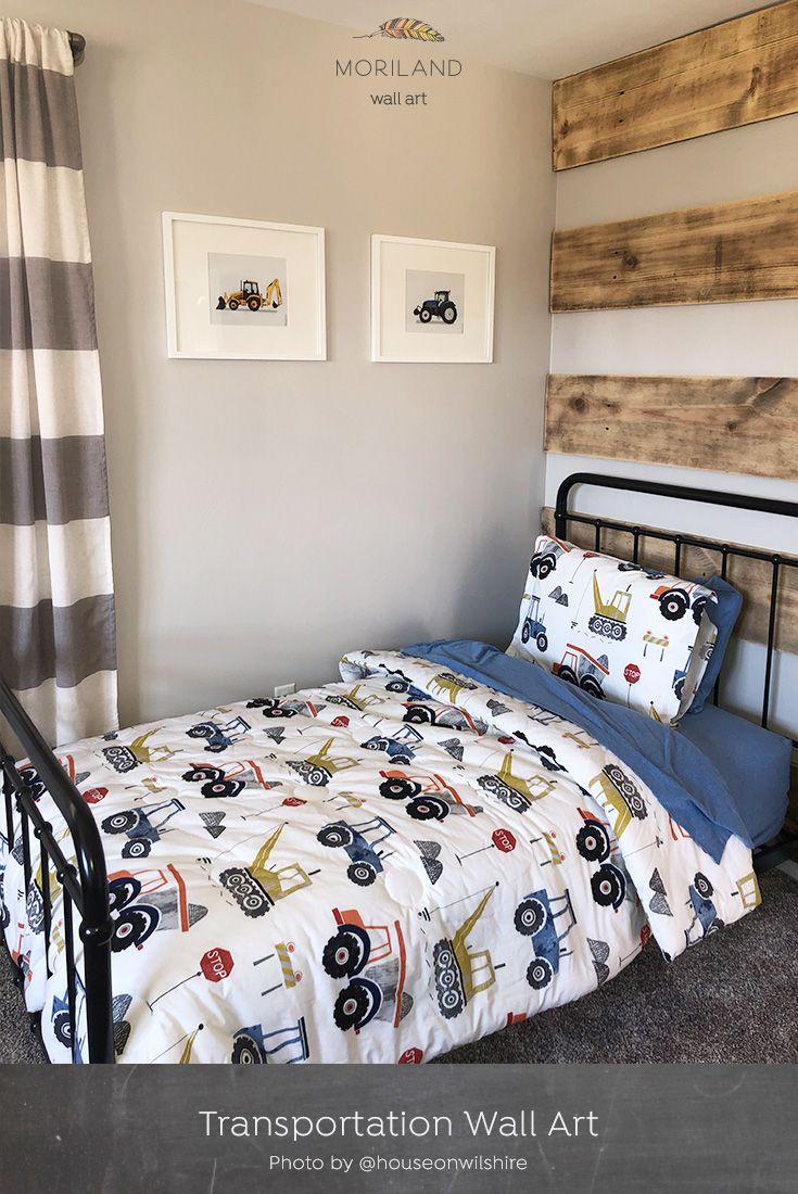Green Tractor Print Printable Art Big Boy Bedrooms Toddler Boy Room Decor Boy Toddler Bedroom